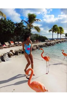 Costum baie intreg Flamingo