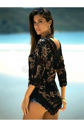 Rochita de plaja cu model crosetata