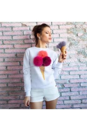 Bluza Pom Pom White