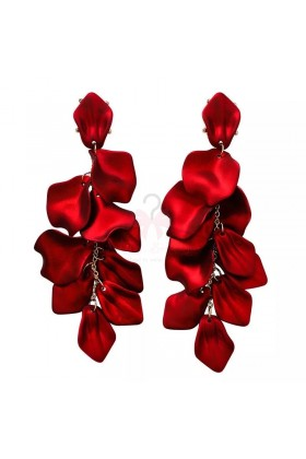 Cercei lungi Red Rose