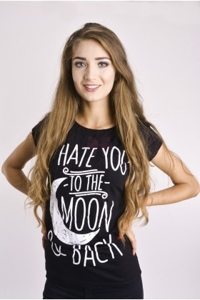 Tricou Negru Moon