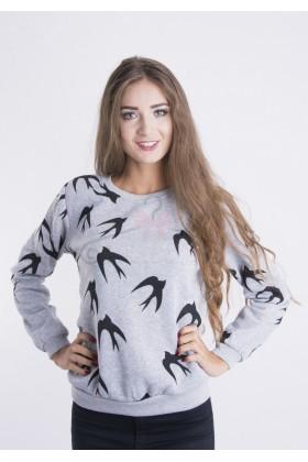 Bluza Gray Birds
