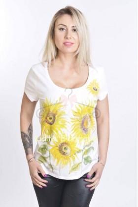 Tricou pictat Floarea Soarelui